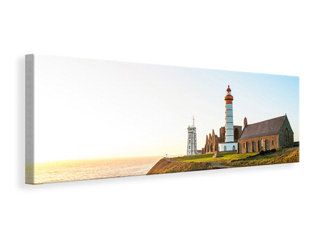 Panoramic Canvas Print The lighthouse at sunrise
