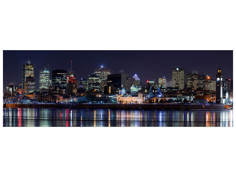 Stampa su tela Panoramica Montreal Night