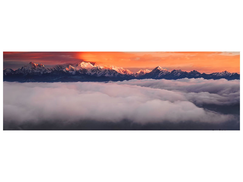 Panoramic Canvas Print The Mountain Gods