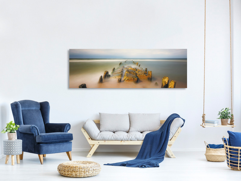 Panoramic Canvas Print Sea Road
