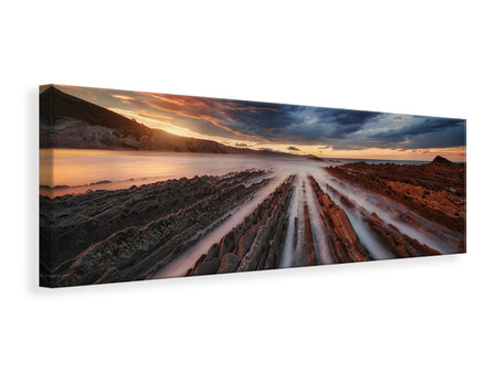 Panoramic Canvas Print Zumaia Flysch 6
