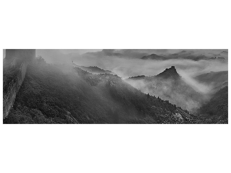 Stampa su tela Panoramica Misty Morning At Great Wall