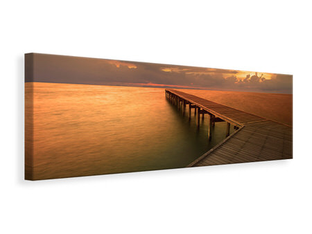 Panoramic Canvas Print The Footbridge  By The Sea