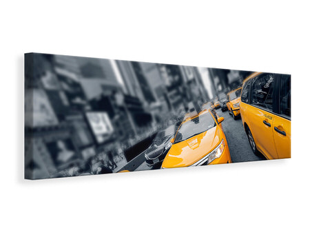 Panoramic Canvas Print Taxi In NYC