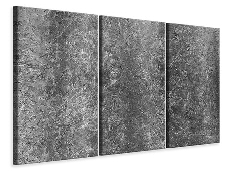 3 Piece Canvas Print Concrete abstract