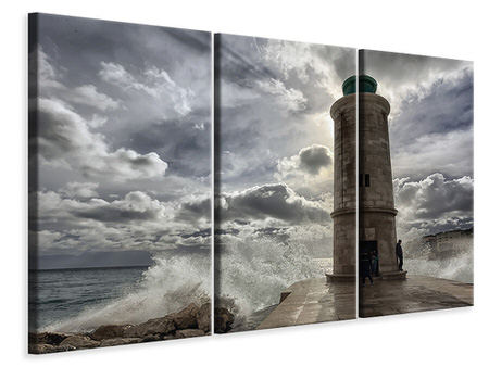 3 Piece Canvas Print The lighthouse in Marseille