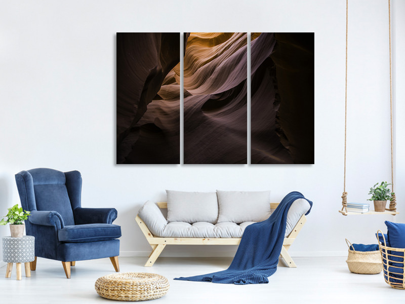 3 Piece Canvas Print Impressive gorge