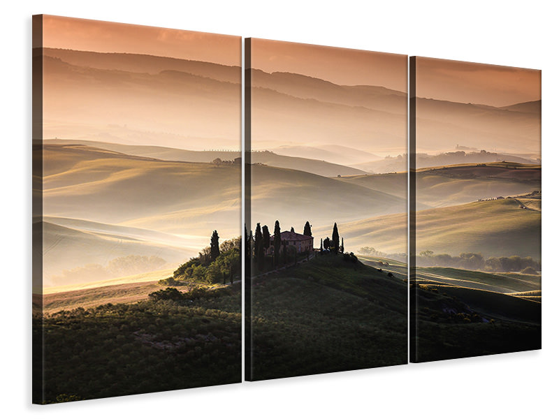 Stampa su tela 3 pezzi A Tuscan Country Landscape