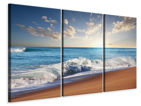 3 Piece Canvas Print The Waves Of The Sea