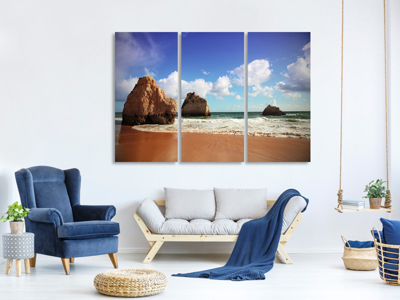3 Piece Canvas Print Beach Thoughts