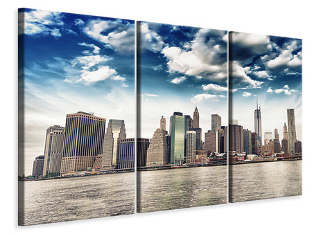 3 Piece Canvas Print NYC From The Other Side