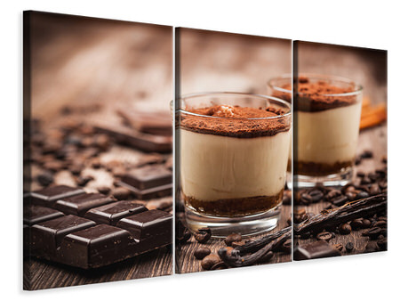 3 Piece Canvas Print Tiramisu