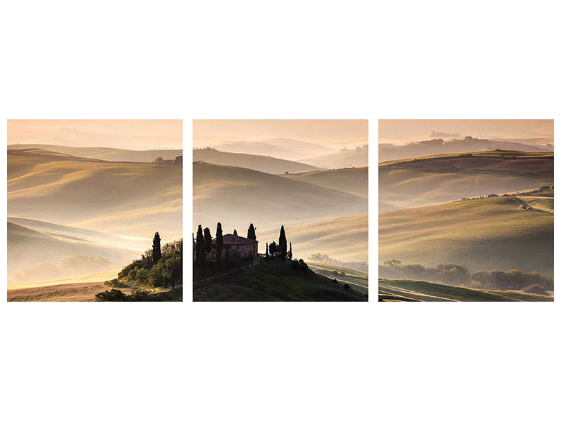 Stampa su tela 3 pezzi panoramica A Tuscan Country Landscape