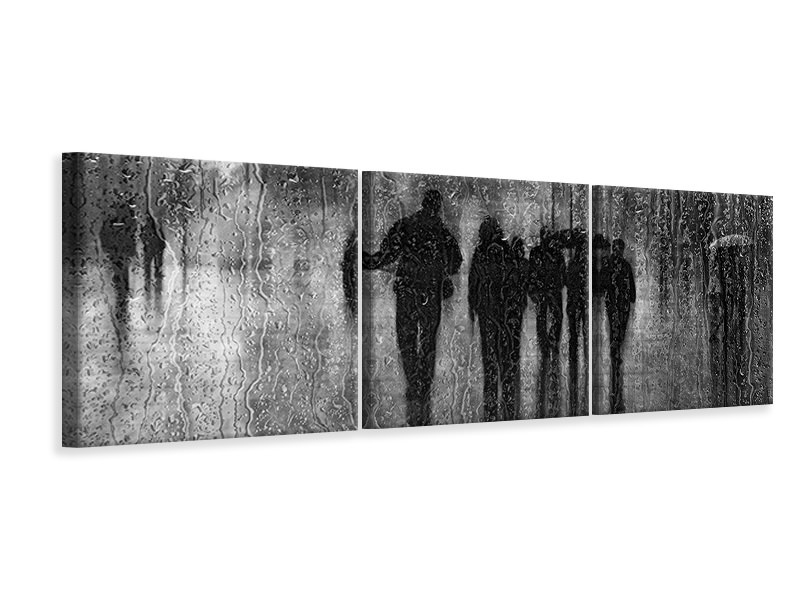 Tableau sur toile en 3 parties panoramique After The Rain