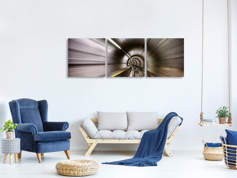 Panoramic 3 Piece Canvas Print In