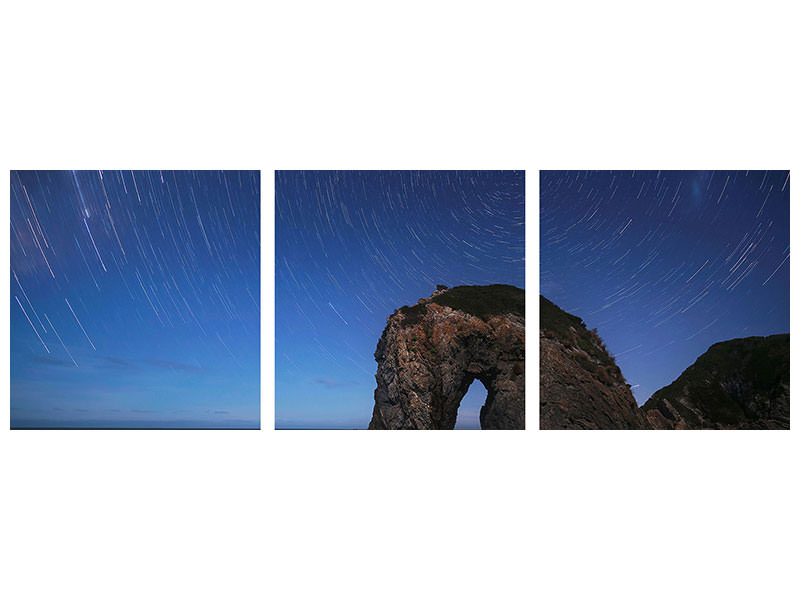 Panoramic 3 Piece Canvas Print Horse Head Rock