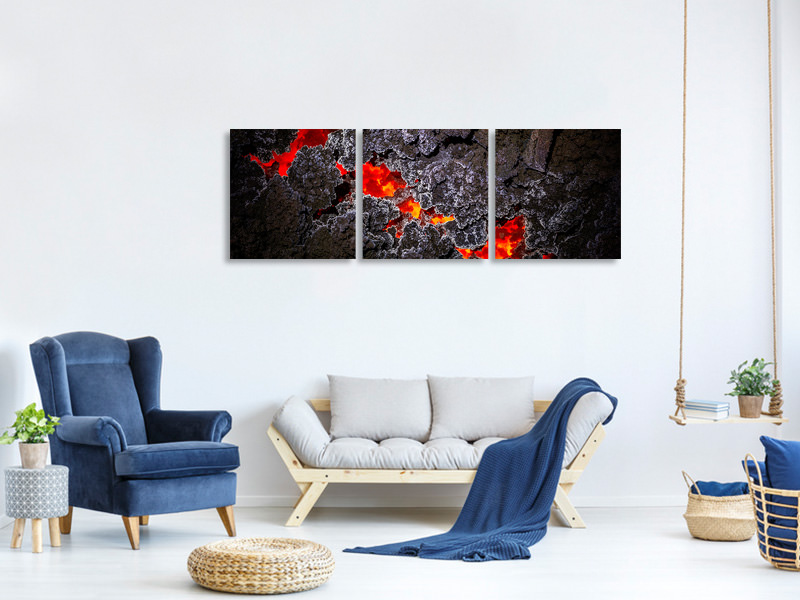 Panoramic 3 Piece Canvas Print Crystallization