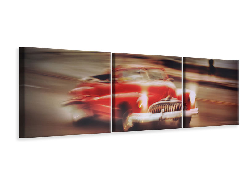Panoramic 3 Piece Canvas Print Havana Fantasy