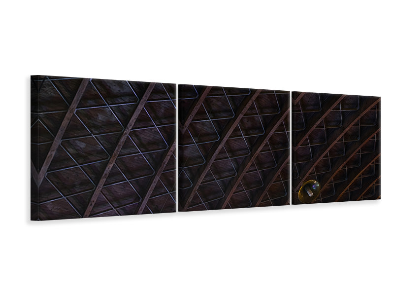 Panoramic 3 Piece Canvas Print Roofing