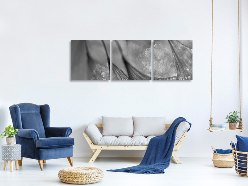 Panoramic 3 Piece Canvas Print Untitled 19