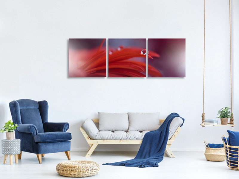 Panorama Leinwandbild 3-teilig Red Passion