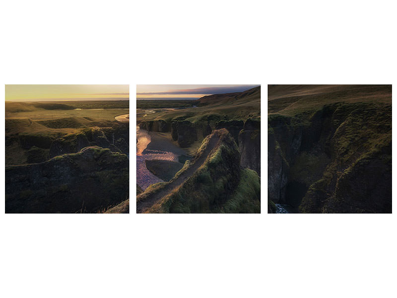 Panoramic 3 Piece Canvas Print Untitled 26