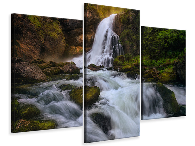 Modern 3 Piece Canvas Print Spring Flood