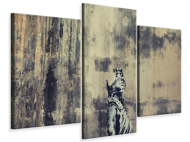 Modern 3 Piece Canvas Print Hear My Voice