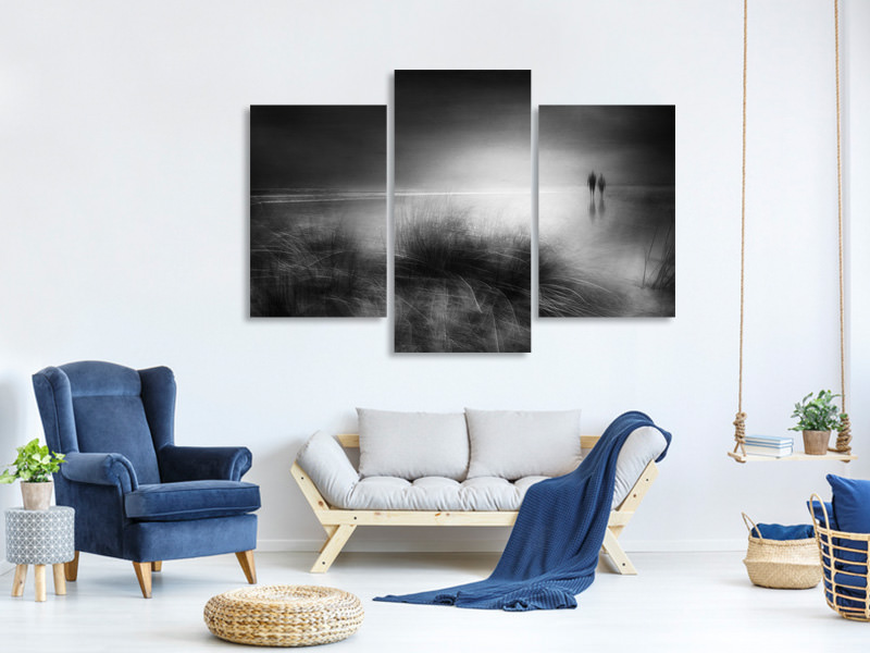 Modern 3 Piece Canvas Print Everything Changes Like The Shoreline And The Sea