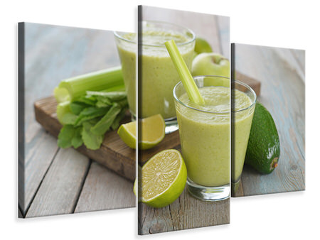 Modern 3 Piece Canvas Print Smoothie
