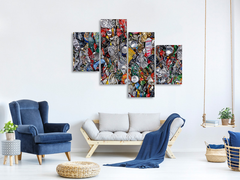 Modern 4 Piece Canvas Print Contemporary Art