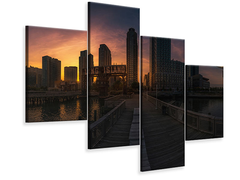 Modern 4 Piece Canvas Print Untitled 18