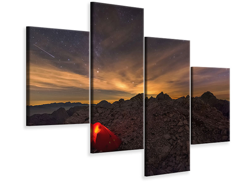 Modern 4 Piece Canvas Print Resting Place In The Wilderness