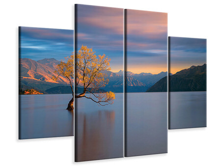 4 Piece Canvas Print Morning Glow