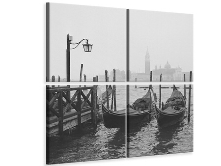 4 Piece Canvas Print Morning In Venice