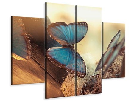 4 Piece Canvas Print Butterflies