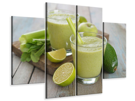 4 Piece Canvas Print Smoothie