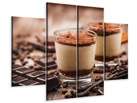 4 Piece Canvas Print Tiramisu