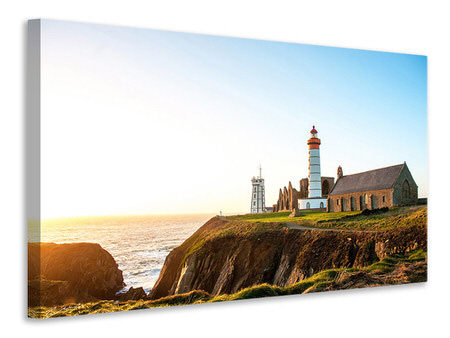Canvas print The lighthouse at sunrise