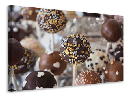 Canvas print Chocolate lollipops