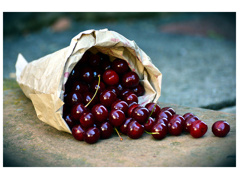 Canvas print A bag of cherries