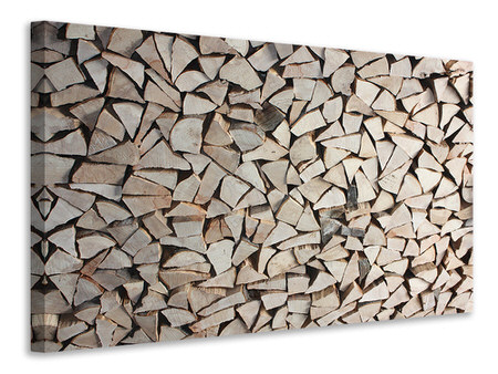 Canvas print woodpile