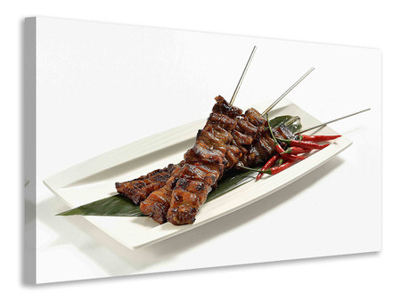 Canvas print Asian kebab