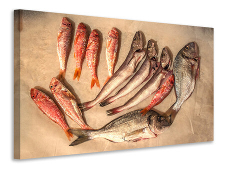 Canvas print Raw fish 2