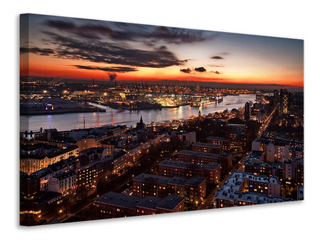 Canvas print Wintersunset