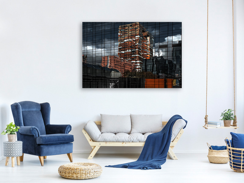 Canvas print Puzzle Reflection
