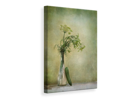Canvas print Dill And Cucumber