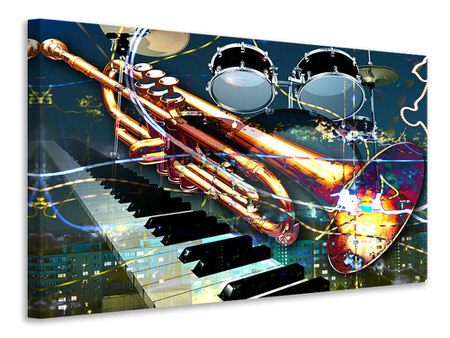 Canvas print Let The Music Play