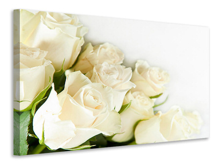 Canvas print White Roses