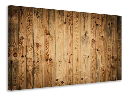 Canvas print Walnut Wood